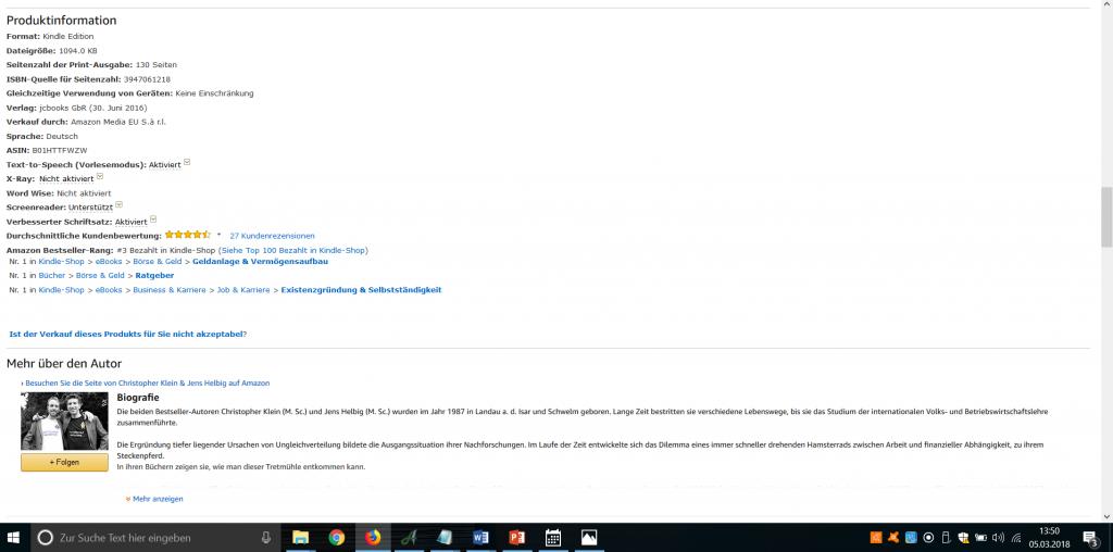 Amazon Bestseller Rang ABSR Verkaufsrang #3