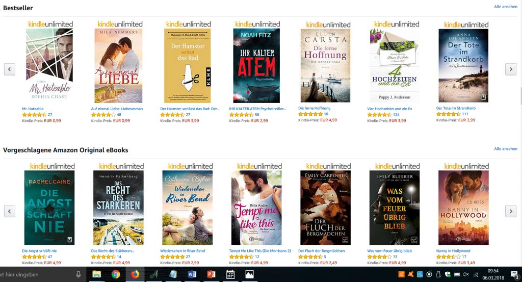 Hamster Bestseller Amazon Hauptseite - Sichtbarkeit durch Bestseller