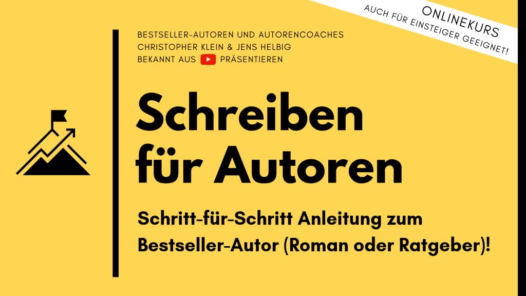 Buch schreiben veröffentlichen Kurs für Autoren Selfpublisher